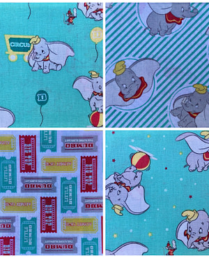 Bright Dumbo Furoshiki Gift Wrap