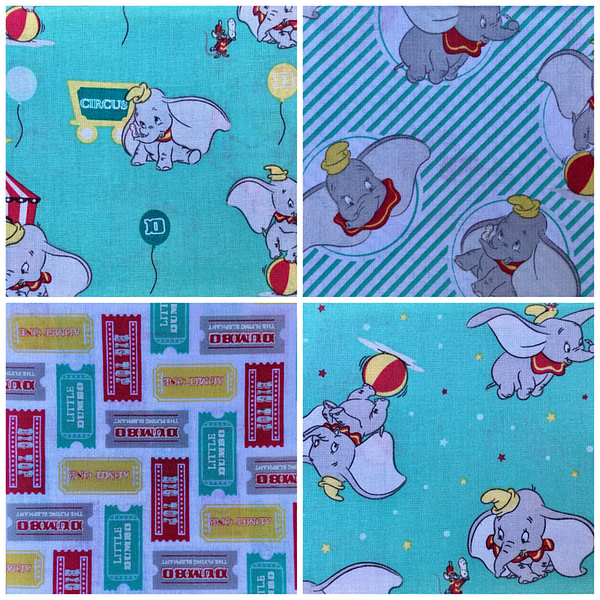 Bright Dumbo Furoshiki Gift Wrap