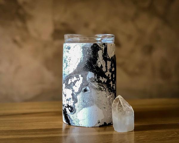 Black & silver wax warmer